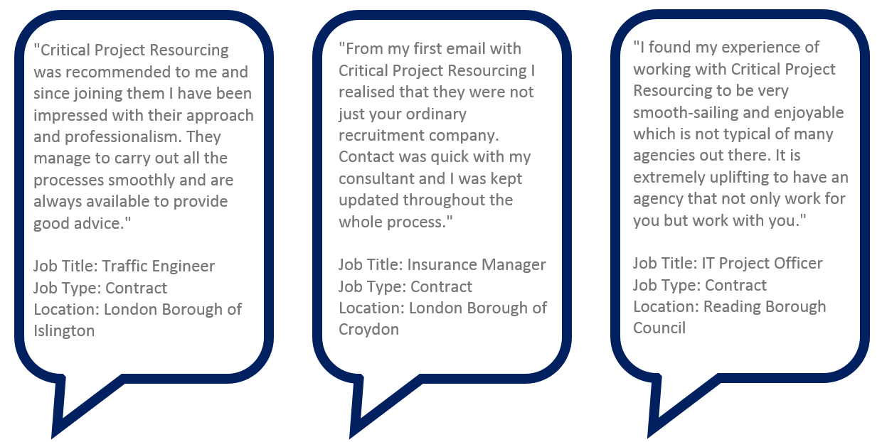 Testimonials Critical Project Resourcing